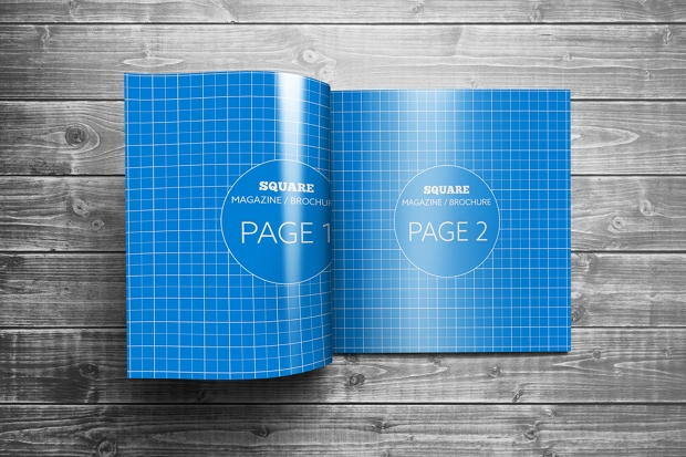 Photorealistic Square Brochure Mockup Design