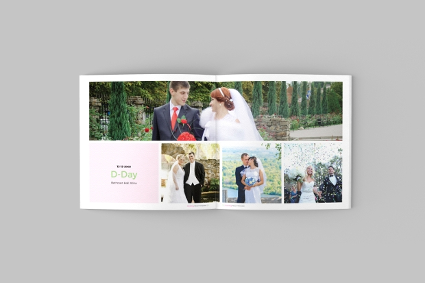 minimal square brochure mockup template