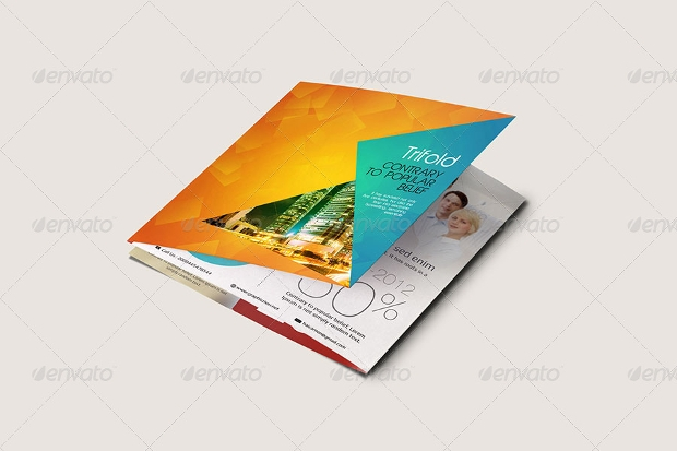 Square Gate Fold Brochure Mockup