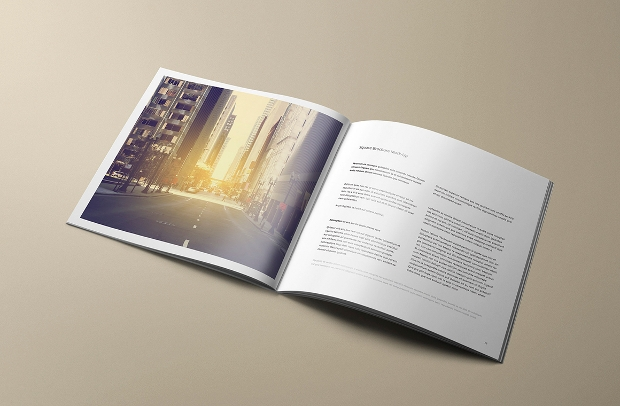 Multipurpose Square Brochure Mockup