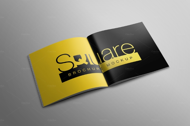 High Resolution Square Brochure Mockup
