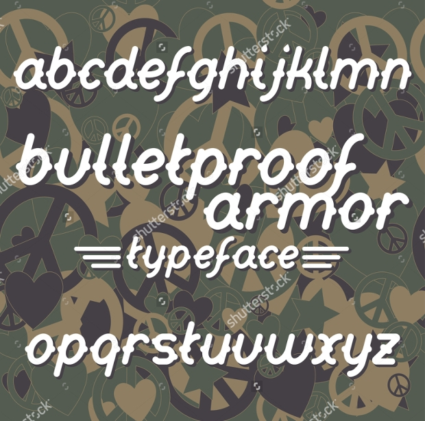 bullet proof armour font