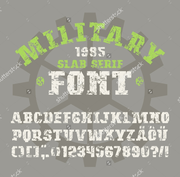 Vintage-Army-Font Job Application Letter Block Style on example written, best example nursing, written form,