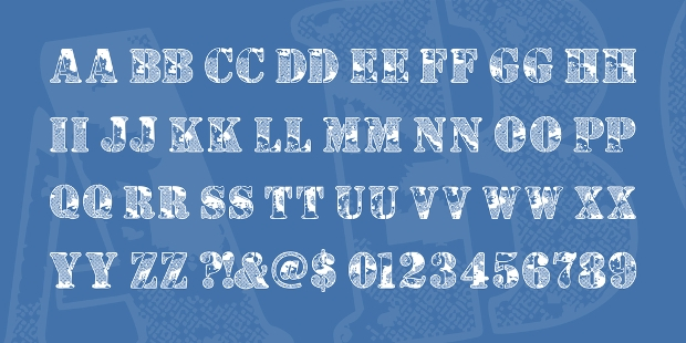 free army block font