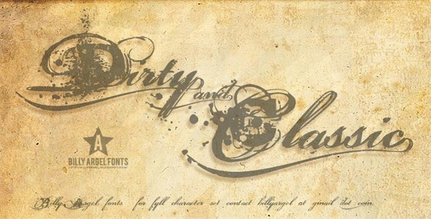 grungy dirt army font