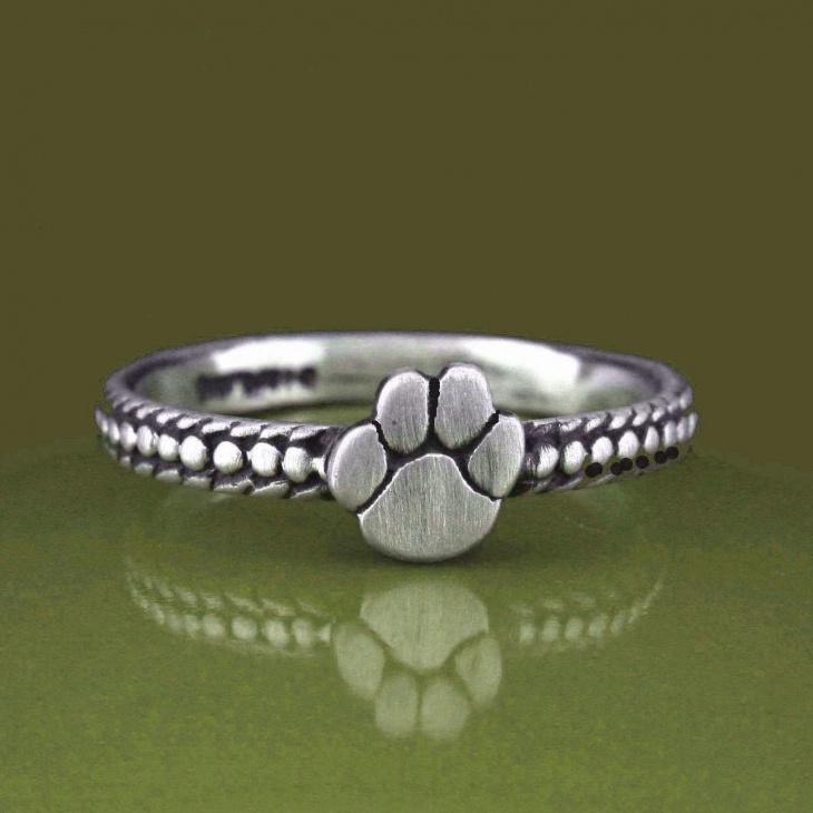 animal paw print ring