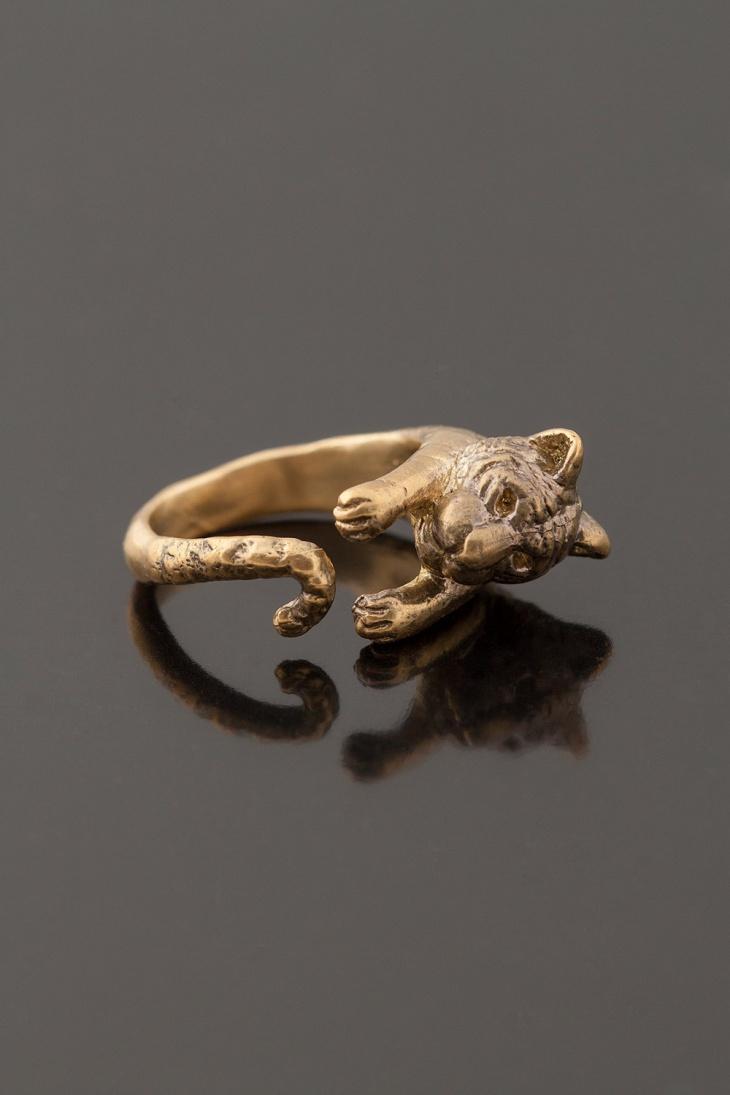 gold tiger wrap ring