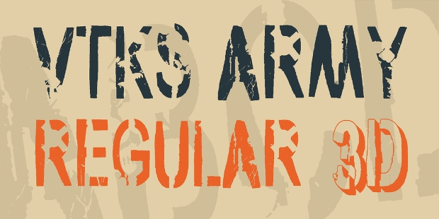 army regular font