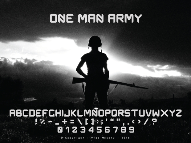 one man army font