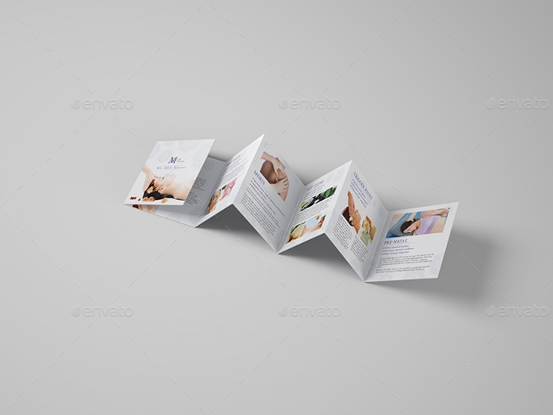 Massage Square Mini Brochure Template By Wutip GraphicRiver WG - Mini brochure template