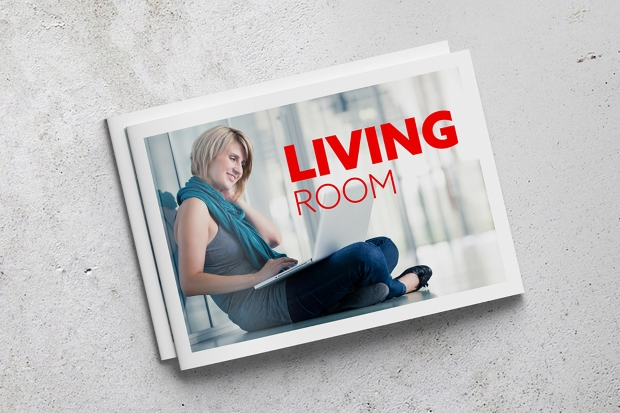 bi fold horizontal brochure mockup