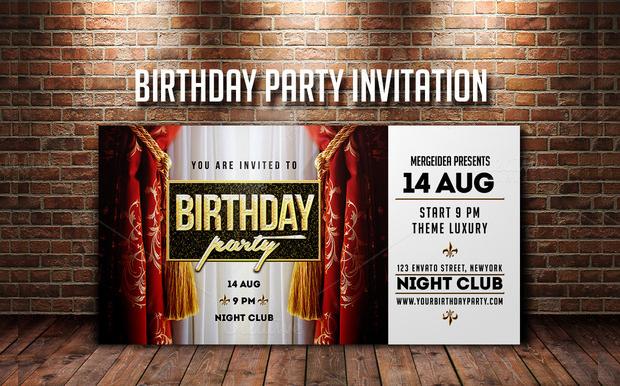 Colorful Anniversary Party Invitation Design