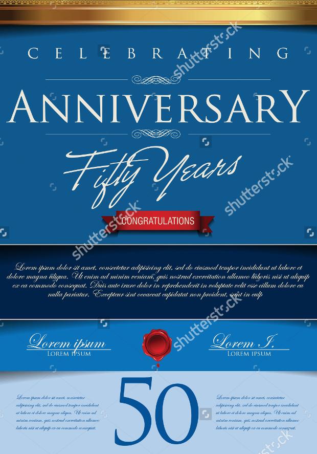 High Resolution Anniversary Invitation