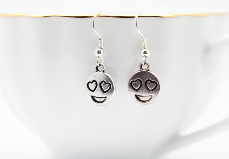 cute emoji earrings