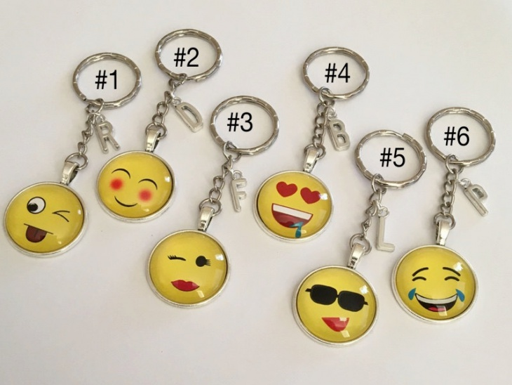 emoji glass key chain design