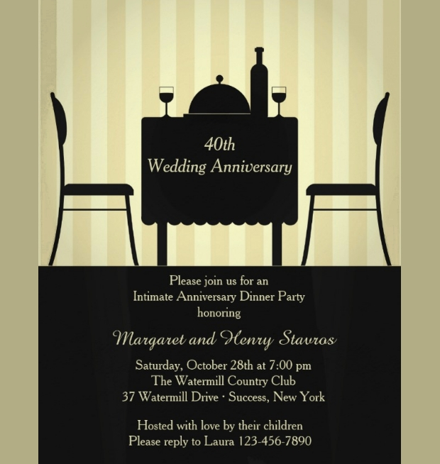 Anniversary Invitation Designs Ideas  Design Trends  Premium