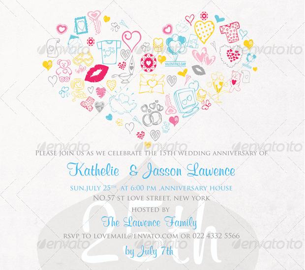 Bridal Shower Anniversary Invitation