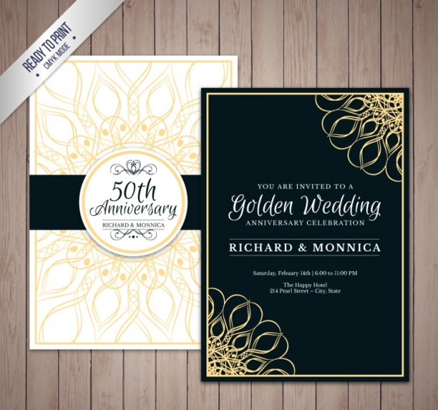 Elegant Wedding Anniversary Invitation
