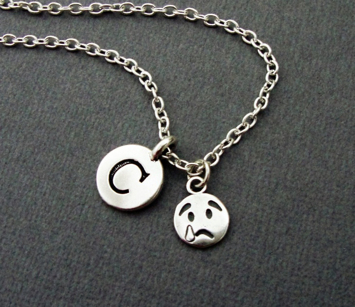 crying face pendant idea