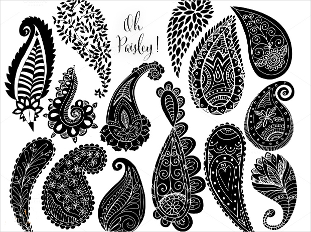 paisley line art brushes