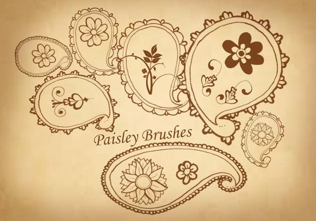 beautiful paisley brushes
