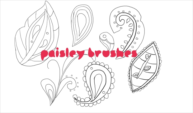 paisley pattern brushes