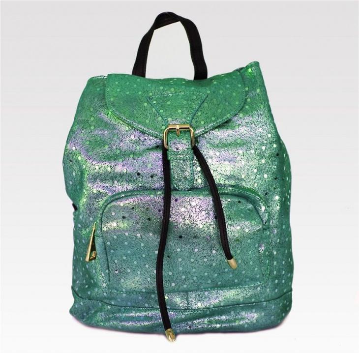 Leather Polka Dot Backpack