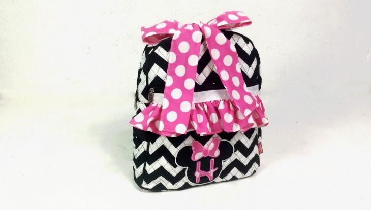 polka dot bow backpack