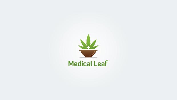 Medical Leaf Logo Design