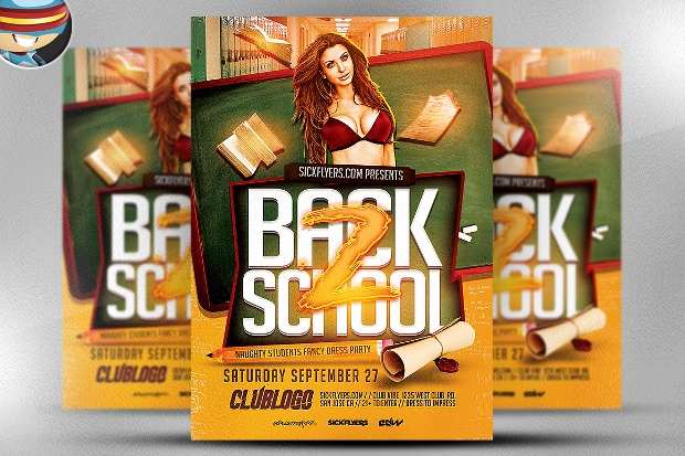 Elegant Back to School Flyer Template