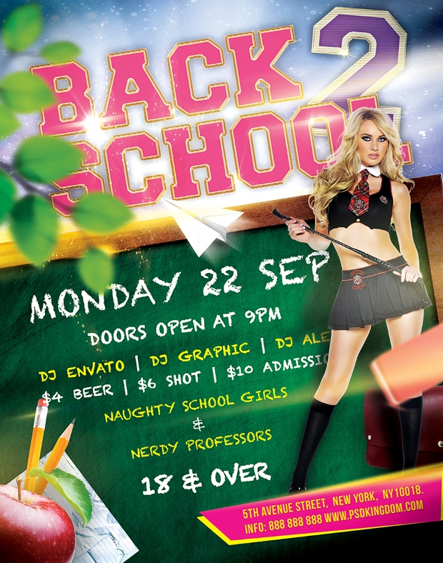 Colorful Back to School Flyer