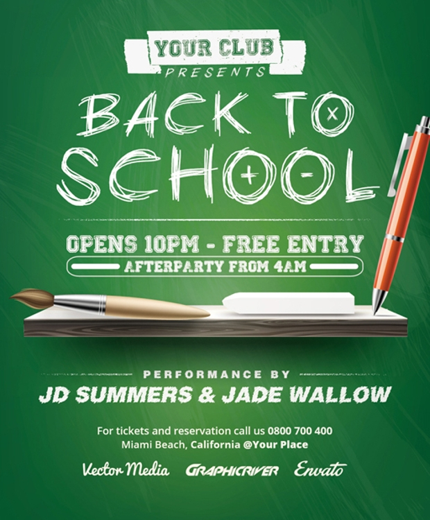Design Trends Premium Psd: 32+ Back To School Flyer Templates