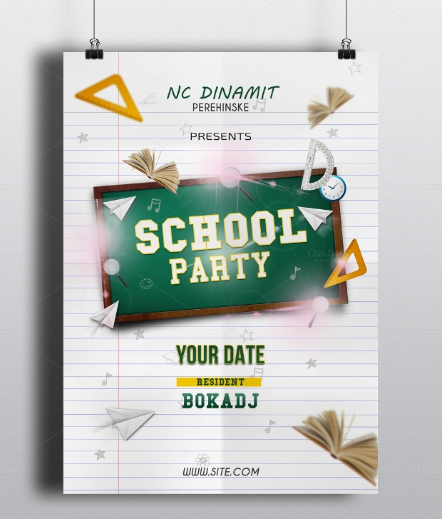 School Party Flyer Design