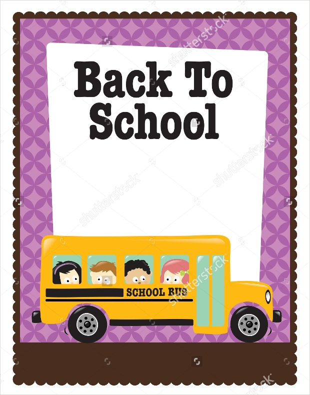 Back To School Bus Flyer