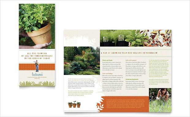 garden store brochure