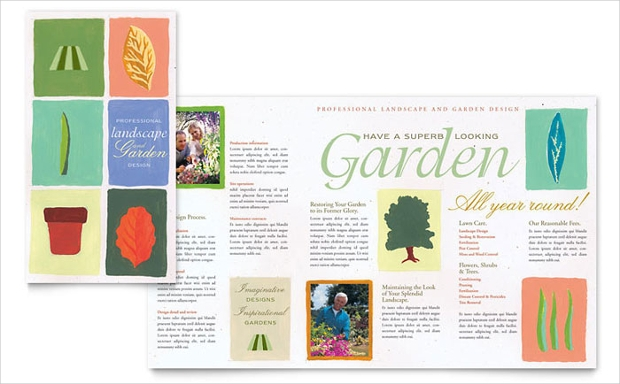 Garden and Landscape Design Brochure Template