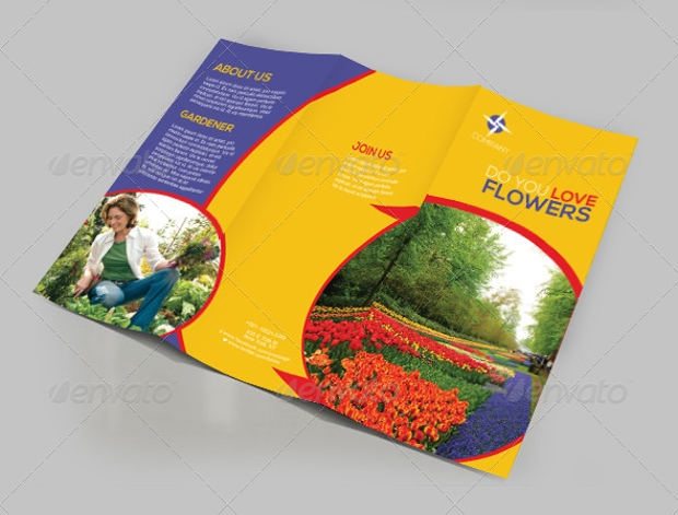 Flower Business Trifold Brochure