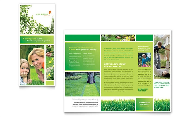 Lawn Care and Mowing Brochure