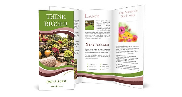 Garden Flowers Brochure Template
