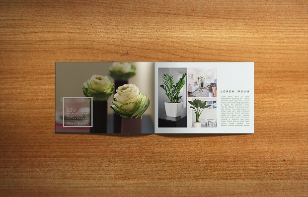 Flower Garden Brochure Design