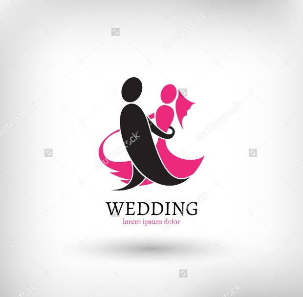 Marriage Couple Wedding Logo