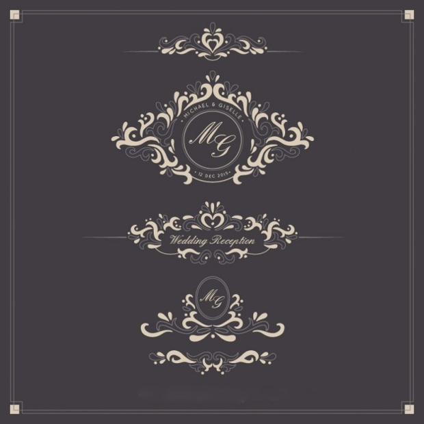 Ornamental Wedding Logos