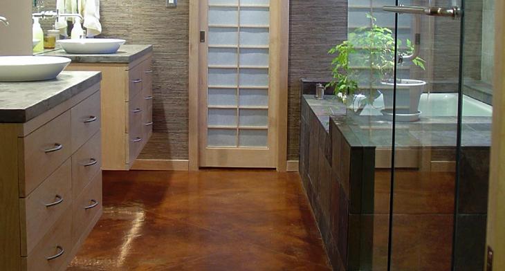 17+ Concrete Bathroom Floor Designs, Ideas | Design Trends ...