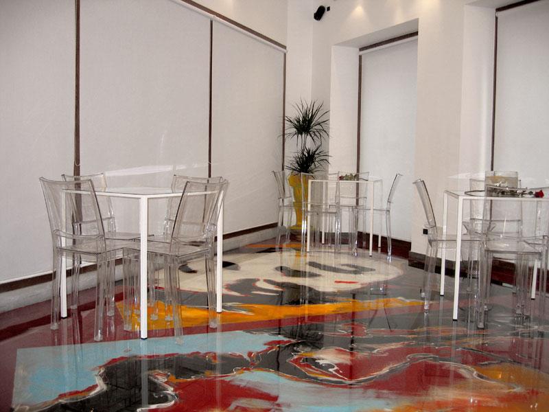 modern 3d floor tile