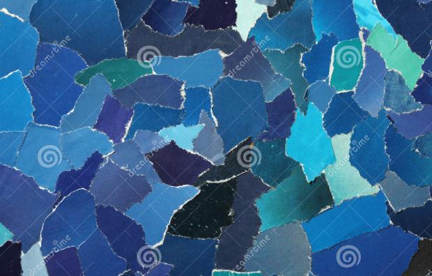 torn blue paper texture