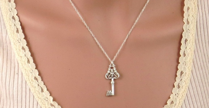 Big Silver Key Pendant