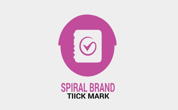 spiral brand tick mark logo