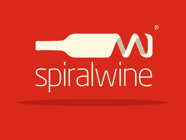 colorful spiral wine logo