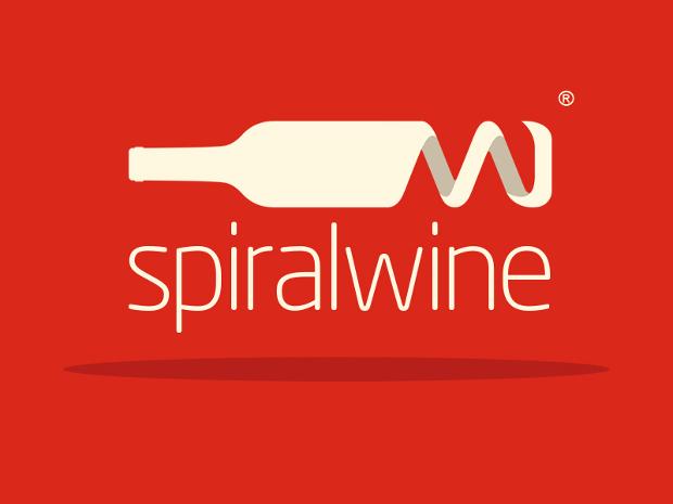 Colorful Spiral Wine Logo