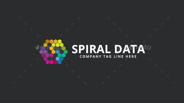 spiral data logo design